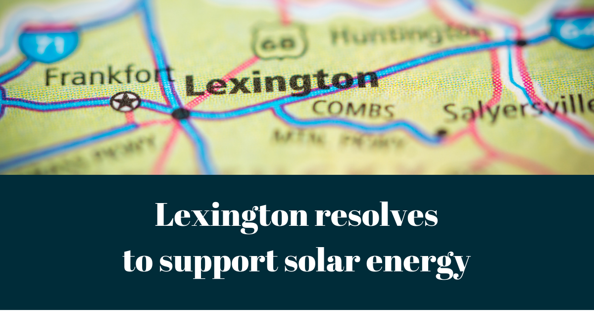 Lexington Kentucky solar energy resolution